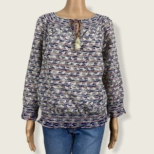 Tory Burch Nadia Embroidered Smocked Peasant Shirt